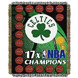 NORTHWEST NBA Boston Celtics Woven Tapestry Throw Blanket, 48' x 60', Commemorative