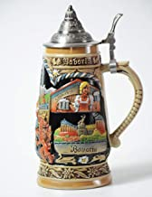 HauCoze Beer Steins Beer Mug German Beer Stein With Lid Chop Biere Bierkrug Bier Stein Mug Krug Gifts for Man Woman 0.9L