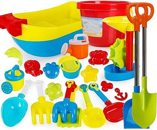 KS Strandspielzeug-Set,23-Tlg Draussen StrandStiefel Kunststoff Strandspielzeug,Glatt Sicherheit Sandkastenspielzeug Für Kinder Geschmacklos A