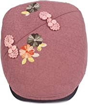KFEK Chinese Style Flower Beret Lady Cap National Wind Vintage Cotton and Linen Female hat