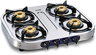 Glen 4 Burner Gas Stove 1044 SS BB Cooktop with Modern Soft Looks