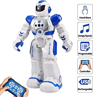 Zoostliss Remote Control Robot for Kids Intelligent Programmable with Infrared Controller Toys, Dancing, Singing, Led Eyes, Gesture Sensing Robot Kit for Children Entertainment