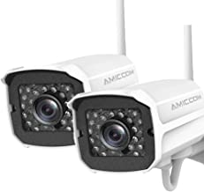 $69 Get Outdoor Security Camera, 1080P WiFi Camera Wireless Surveillance Cameras, IP Camera with Two-Way Audio, IP66 Waterproof, Night Vision, Motion Detection, Activity Alert - iOS, Android(2 Pack)