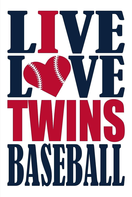うなるピークおもちゃLive Love Twins Baseball Journal: A lined notebook for the Minnesota Twins fan, 6x9 inches, 200 pages. Live Love Baseball in navy and I Heart Twins in red.