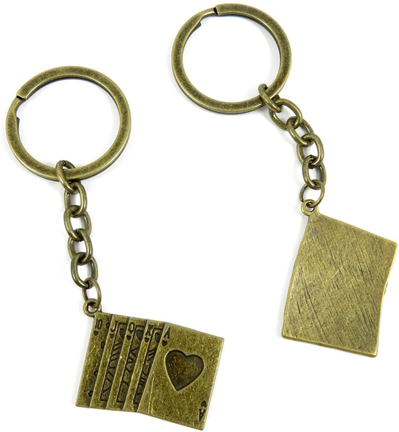 120 Pieces Fashion Jewelry Keyring Keychain Door Car Key Tag Ring Chain Supplier Supply Wholesale Bulk Lots L2AY5 Poker Straight Flush
