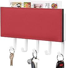 Clé murale - Crochet de clé mural, Porte-clé de courrier, Organisateur de clé de courrier, Style de couleur rouge Rouge Co...
