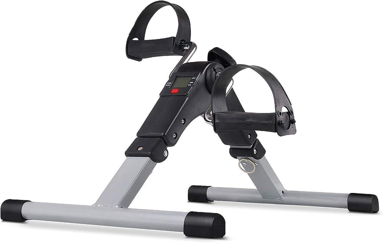 Slinlu Portable Pedal Exerciser Einstellbarer Widerstand Indoor Mini Leichtes Heimtrainer für Arme und Beine