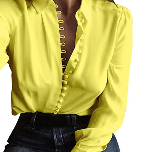b8d981c896830f VJGOAL Casual Long Sleeved Lapel Single Breasted Women Tops Women Casual  Solid Long Sleeves Blouse Lapel