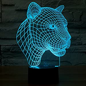 3D Cougar Lighting by Playtime 123 is a Great Nightlight with a Soft Glow for Kids. These Lights Make Beautiful Gifts for Mom and Amazing Desk Lamps for Dad. Start enjoying your own 3d Light Today!