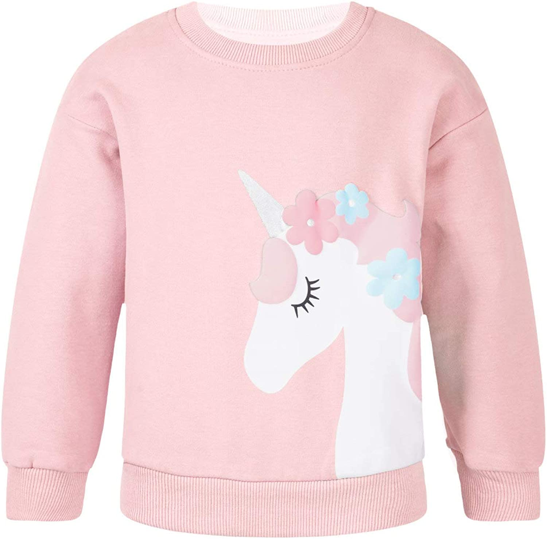 Freebily Unisex Girls Boys Hoodies Sweatshirts Long Sleeves Cartoon Horse T-shirt Top Coat Sweater Outfits