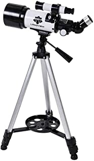 Space Astronomical Refractor Telescope with Adjustable Tripod and Finder Scope,Outdoor Monocular Space Telescope,Education...
