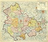 Historische Karte: LAND THÜRINGEN 1951: [Verwaltungskarte 1950-1952]