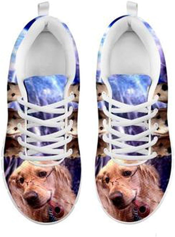 Brand Brand Brand Söt gulden Retriever Dog Print herrar Casual skor (10)  gör rabattaktiviteter