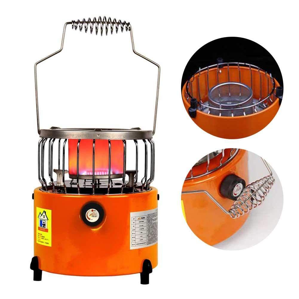 Finelyty Mini Calentador 2 en 1, Estufa de Camping Caja Fuerte portátil Bajo Consumo de energía Durante Todo el año Calentador de Uso Estufa de Camping: Amazon.es: Hogar