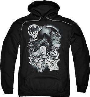 Batman DC Comics Joker Archenemies Crazy Grins Adult Pull-Over Hoodie