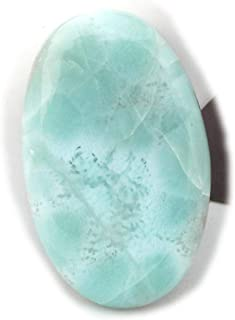 The Best Jewellery Larimar Cabochon 17Ct Natural Larimar Gemstone, Oval Shape Cabochon For Jewelry Making (28x17x4mm) SKU-...