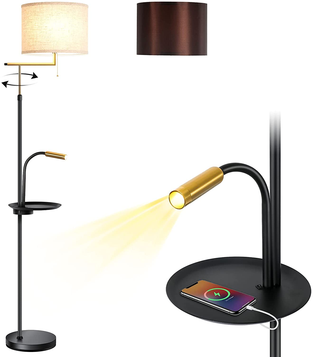 Floor Lamp LED Standing Tall Mothe Don't miss the Max 70% OFF campaign Pole Modern Industrial