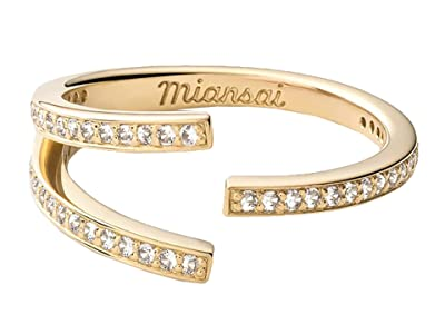 Miansai Orbit Ring (Polished Gold/White Sapphire) Ring