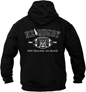 Rugby New Zealand All Black sudadera hombre con capucha B2