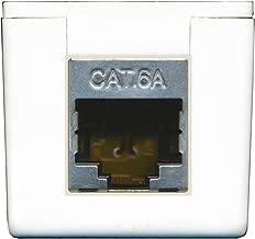 RiteAV Cat6a Surface Mount Box Female/Female White