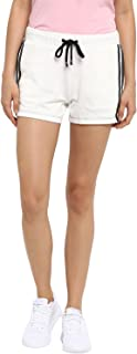 KVL Women's Regular Fit Solid Jogger Shorts - (Off White)