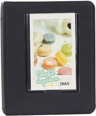 Anter 64 Pockets Instax Mini Photo Album for Fujifilm Instax Mini 11 8 8+ 9 7s 25 26 50s 70 90 Instant Camera & Name Card with 20 PCS Stickers - Black