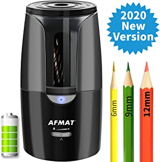 Colored Pencil Sharpener, Large Pencil Sharpener, Rechargeable Electric Pencil Sharpener for 6-12mm Pencils, Super Quiet Long Lasting Pencil Sharpener for Artists, 1 Hr Charging/300 Times Sharpening