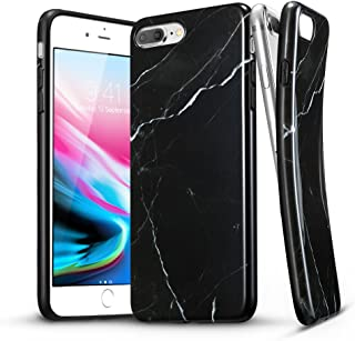 Apple iPhone 8 Plus/iPhone 7 Plus ESR Marble Pattern Design TPU Soft Rubber Silicone Phone Cover - Black Sierra