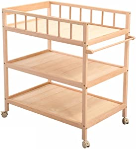 Beech Baby Changing Table  Solid Wood Care Table  Multifunctional Baby Shower  Touch The Table  Storage Table  Mobile Rack  Includes Coir Mat Storage Box Load About