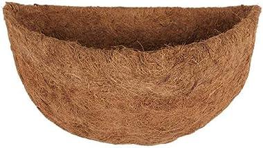NIVNI Pot de fleurs - Doublure ronde en fibre de coco - Doublure de rechange pour paniers de fleurs à suspendre au mur