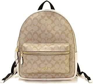 Coach Backpack Signature Coated Canvas F32200