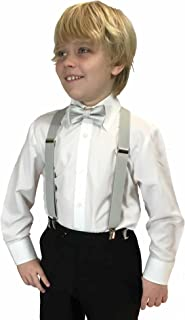 Boys X Back Suspenders & Bowtie Set Variety of Colors