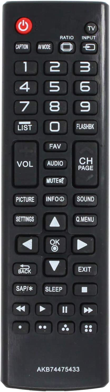 AKB74475433 Remote Control El Paso Mall Ranking TOP19 Replacement - Compatible 50LB LG with