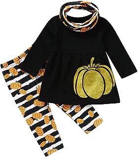 Newborn Baby Boy Girl Nightmare Stripe Hooded Romper Pants Halloween Outfits Set