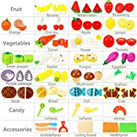 Lewo Tagliare Verdure alla Frutta Set Magnetico in Legno Cibo 33 PCS Pretend Gioca Cucina Primi Giocattoli educativi per i più Piccoli Ragazzi Ragazze #1