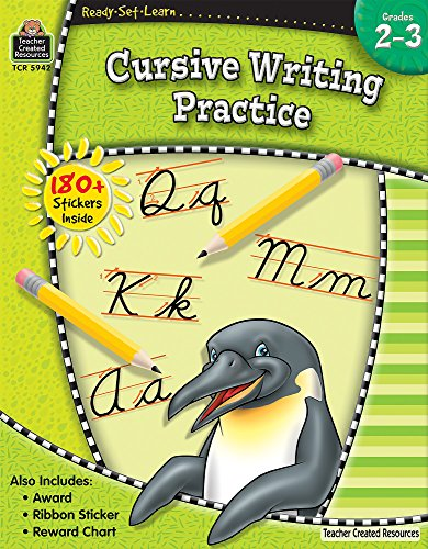 Ready•Set•Learn: Cursive Writing Practice, Grades 2–3 from Teacher Created Resources (Ready, Set, Learn Series)