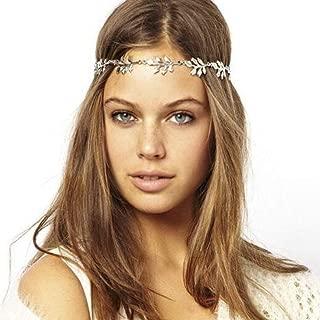Yean Wedding Headpiece Gold Leaf Headband Festival Forehead Accessories for Women and girls