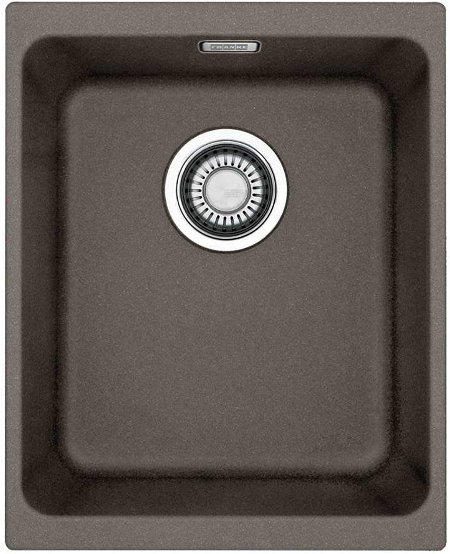 Franke Kubus KBG 110-34 Umbra Granit-Spüle Küchenspüle Spülbecken Unterbau Grau
