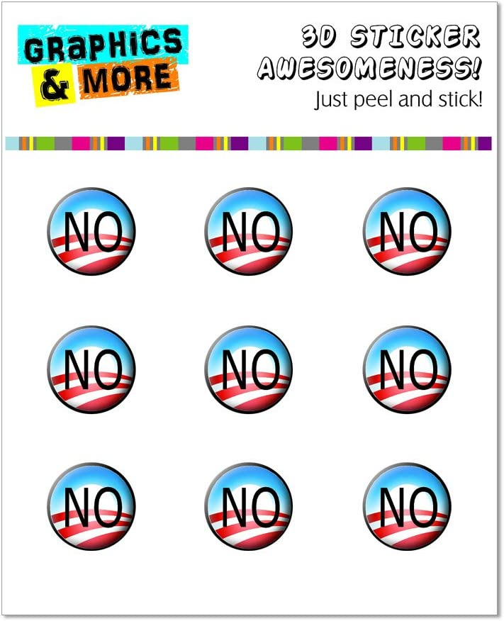 Graphics and More Obama NO Logo - Anti Obama Home Button Stickers Fits Apple iPhone 4/4S/5/5C/5S, iPad, iPod Touch - Non-Retail Packaging - Clear