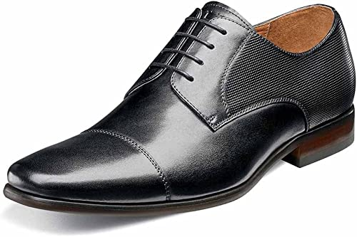 Florsheim Hommes's Postino Cap Toe Oxford noir Smooth Perf 8 D US