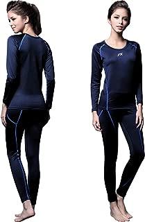 Womens MAXHEAT Fleece Lined Performance Long Johns Thermal Underwear