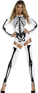 LOBiI78lu Women's Bad To The Bone Halloween Skeleton Costume
