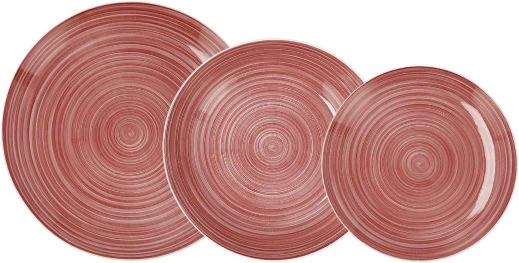 Quid Vajilla completa moderna de porcelana para 6 personas (18 piezas) Platos llanos, Platos hondos, Platos postre
