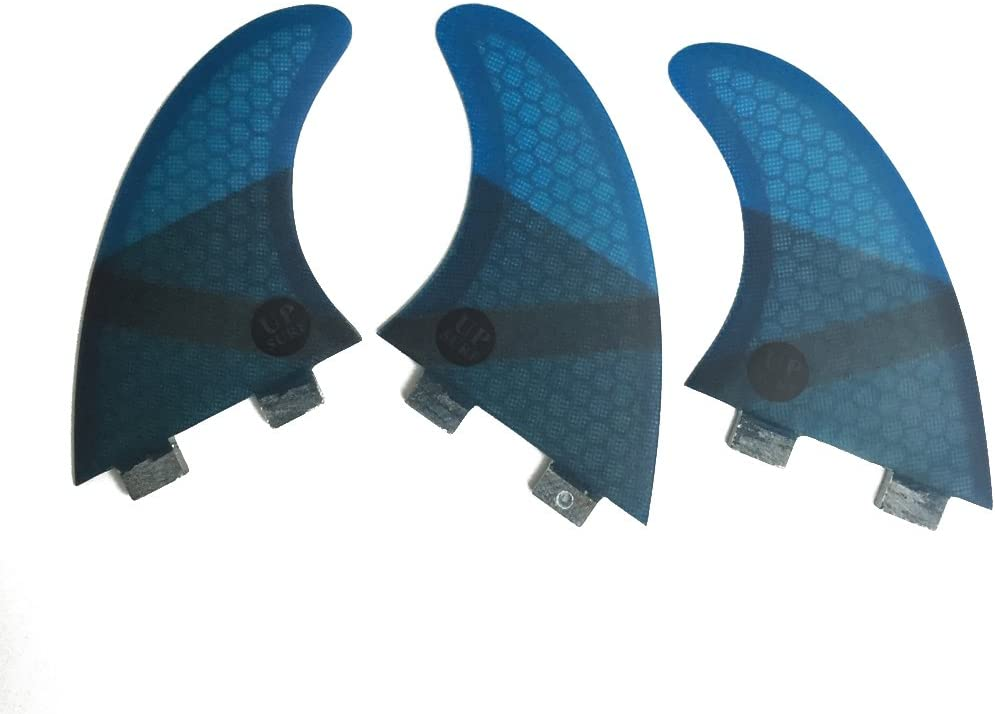 Ranking integrated 1st place UPSURF Fibreglass 5 ☆ very popular Double Tabs Fins m Surfboard Thruste Size