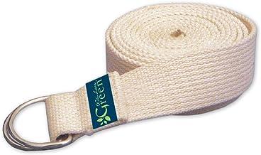 Wai Lana Natural Organic Cotton Yoga Strap, Green