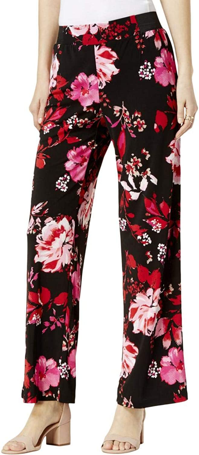 INC Womens Floral Casual Wide Leg Pants