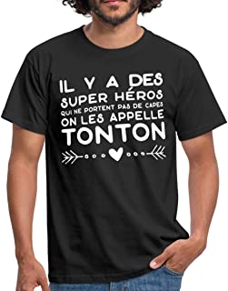 Large /& 12-18 Mois Keep Calm My Uncle is A Superhero Hommes T Shirt /& Barboteuse Ensemble Tontons b/éb/é Cadeaux Gris