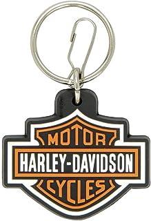 Portachiavi in similpelle con logo Harley Davidson