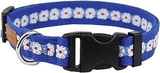 egoola floral dog collar adjustable flower pattern basic dog collars personalized spring pet collar for size small medium large dogs