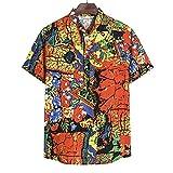 Shirt Playa Hombre Estilo Hip Hop Personalidad Tapeta Hombre Shirt Casual Moda Verano Estampado Creativo Manga Corta Hombre Shirt Tendencia Vintage Hombre Shirt Hawaiana